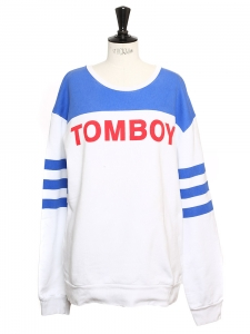TOMBOY printed red white and blue sweater NEW Size 38