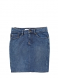 Mid blue stretch denim jeans high waist skirt Size 36