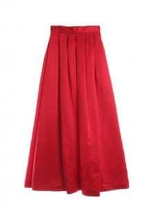 Jupe longue taille haute rouge vif Px boutique 650€ Taille 34/36