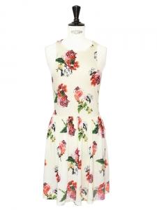 Petite robe patineuse Rosey Posey écrue imprimé floral Taille 36