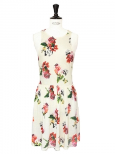 Rosey Posey ecru floral printed skater dress Size 36