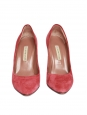 Pointed toe coral red pink suede leather pumps Retail price €280 Size 37