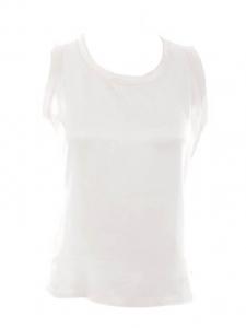 Top sans manches débardeur en soie blanc ivoire Px boutique 600€ Taille M