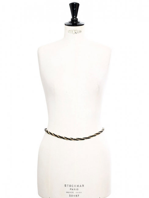 Gold and black braided chain belt Size S/M