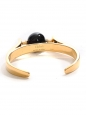 Abby gold brass bracelet cuff with black stone Retail price €590