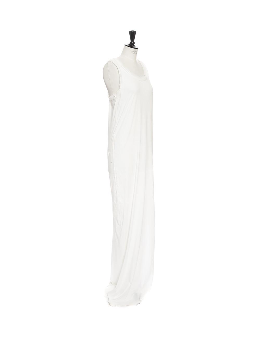 Louise Paris - LANVIN Ivory white cotton and silk long maxi shirt ...