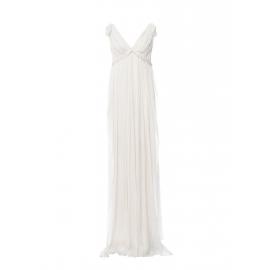 Robe longue en mousseline plissée blanc écru Prix boutique 4400€ Taille 36