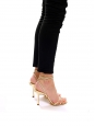 JULIET Gold leather heeled sandals with ankle strap Retail price €450 Size 38.5