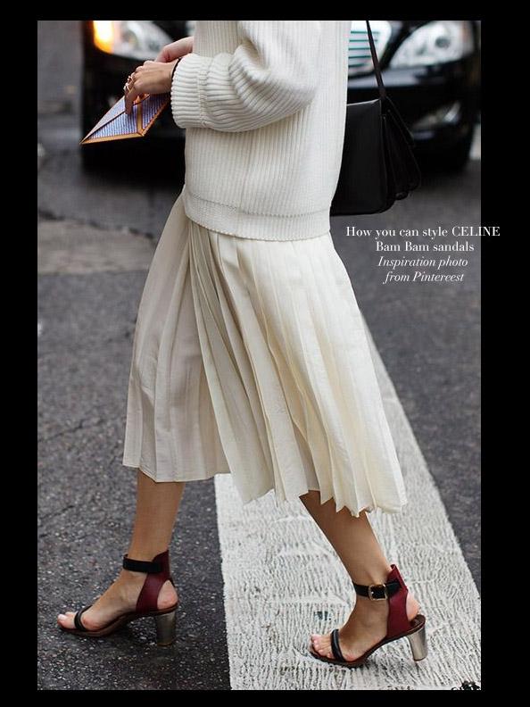 Bride Sandales Large Bam Cheville Louise En Celine Paris Cuir tsCQhrd