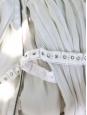 Ecru white pleated chiffon gown Retail price €4400 Size S