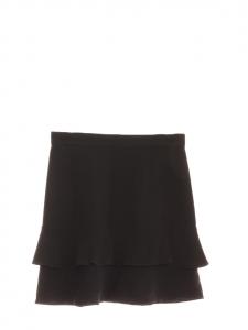 Jupe en crêpe noir à volants Px boutique 560€ Taille 34