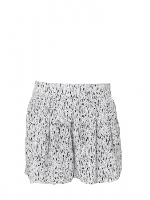 Black and white printed elasticated shorts Size M
