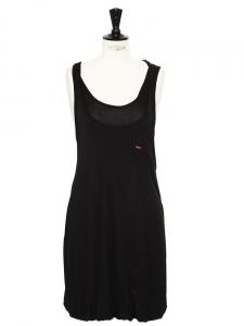 Robe boule débardeur en jersey noir Px boutique 250€ Taille 36