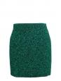Mini jupe stretch moulante en laine tricotée verte et noire Prix boutique 150€ Taille 38