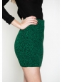 Green and black mottle knit stretch mini skirt Retail price €150 Size S/M