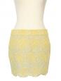 Mini jupe en crochet jaune Px boutique 560€ Taille