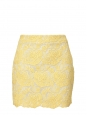 SMITH yellow cotton and silk lace skirt Retail price €580 Size S/M