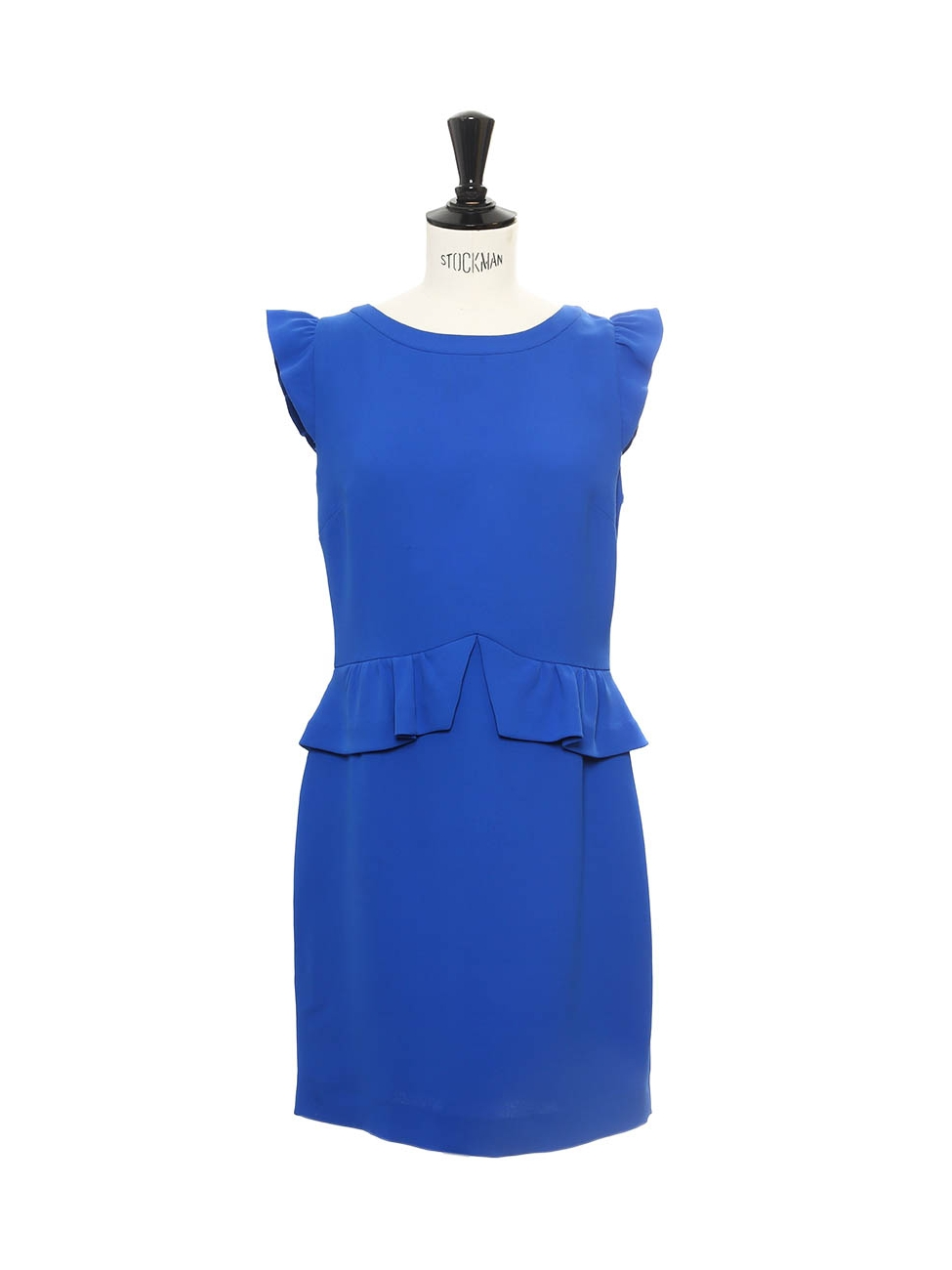 Robe à volants RESONANCE en crêpe bleu roi Px boutique 185€ ... 95e0b471e8f