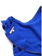 Royal blue crepe ruffle sheath dress Retail price €185 Size 36