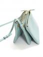 Sac à bandoulière TRIO en cuir lisse bleu ciel Px boutique 780€
