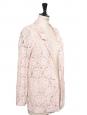 Veste blazer en dentelle fleurie rose clair Taille 38