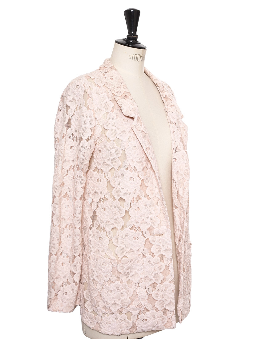 Louise Paris - VINTAGE Pale pink floral lace blazer jacket