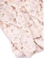 Pale pink floral lace blazer jacket Size M