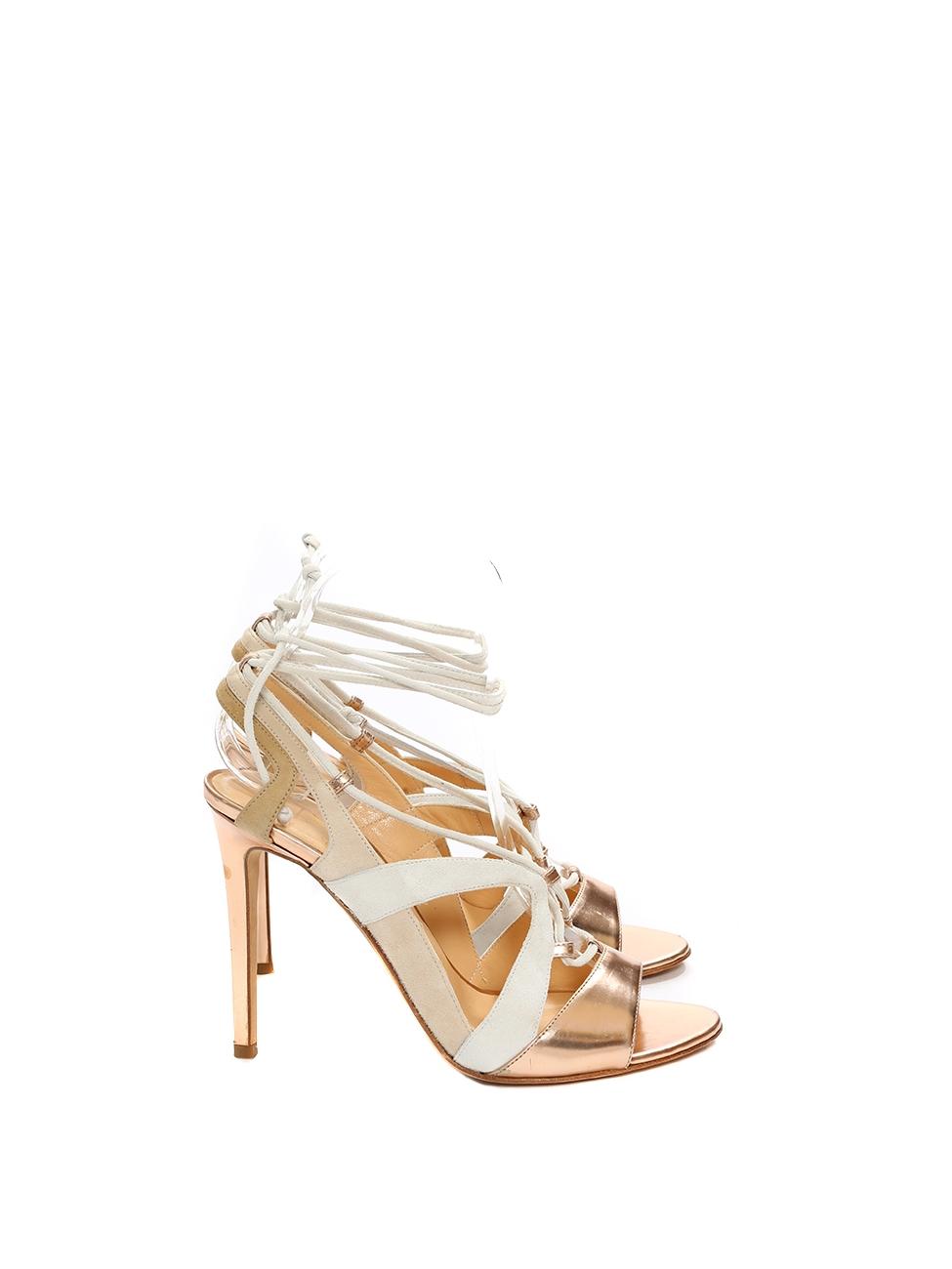 34e9735a740 Louise Paris - ALEJANDRO INGELMO FRANCA Pink gold metallic leather ...