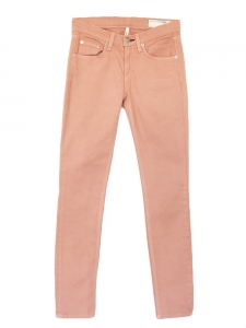 Peach pink mid-rise cropped skinny slim fit jeans Retail price €160 Size XS