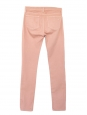 Jean skinny slim fit en coton stretch rose pêche Px boutique 160€ Taille 34