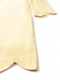 Yellow Scalloped linen and silk dress Retail price €800 Size 40