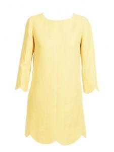 Robe Scalloped en lin et soie jaune Px boutique 800€ Taille 40