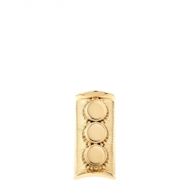 DJILL Gold-tone brass textured ring Retail price €300 Size 54