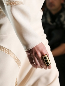 DJILL Gold-tone brass textured ring Retail price €300 Size S