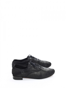 Iridescent black leather ZIZI Oxford shoes Retail price €225 Size 39