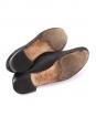 Chaussures plates richelieu ZIZI en cuir cousu retourné noir irisé Px boutique 225€ Taille 39