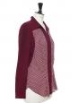 Chemise manches longue fluide imprimé prune et blanc Px boutique 120€ Taille 38