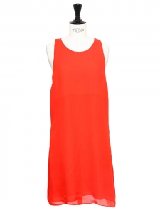 Vibrant red crepe cutout back dress Size XS/S