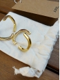Boucles d'oreilles créoles SANDRA en laiton doré NEUVES Px boutique 80€