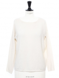 White luxury cashmere sweater Retail price €280 Size S