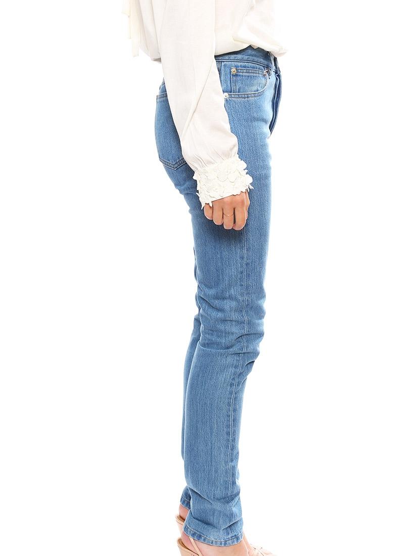 louise paris apc jean slim taille haute en coton bleu clair prix boutique 160 taille 34 36. Black Bedroom Furniture Sets. Home Design Ideas