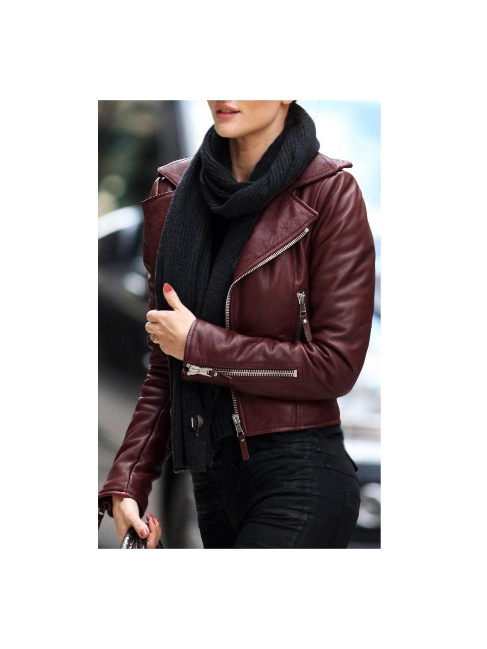 design de qualité 20e42 70736 Louise Biker Perfecto En D'agneau Veste Paris Balenciaga ...