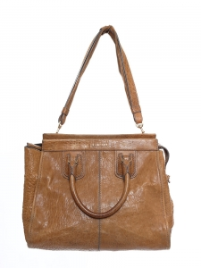 Fawn beige leather tote shoulder bag Retail price €1300
