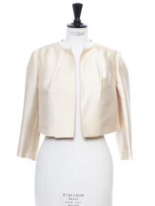 Ivory gold radzimir bolero cropped jacket Retail price $1695 Size 36