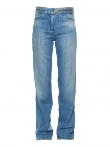 Light blue braided denim jeans Retail price €150 Size S