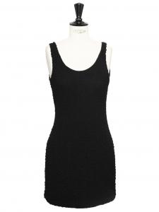 Mini robe débardeur dos nu en soie noire Px boutique 400€ Taille 36