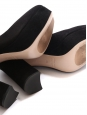 Black suede leather block heel pumps NEW Retail price €500 Size 36