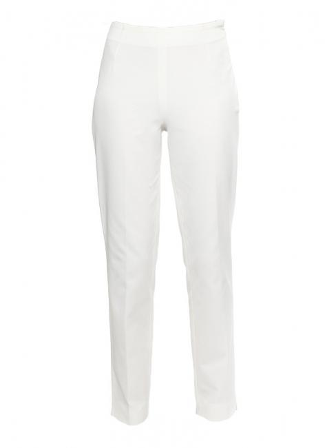 Pantalon droit en jersey texturé rayé blanc ivoire Prix boutique 250€ Taille 36