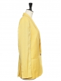 Classic sunny yellow silk and wool blazer jacket Retail price €1100 Size M