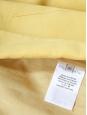 Veste blazer classique en laine et soie jaune soleil Px boutique 1100€ Taille 38